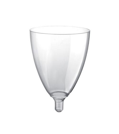 """Weinkelche aus Kunststoff """"Mix it!"""" - transparent - 20 Stück"""