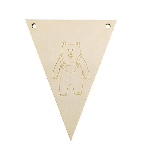 Dein Dreieck-Wimpel mit graviertem Wahlmotiv - 11 x 14,5 cm