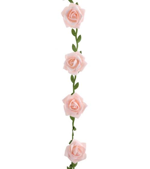 Rosen-Girlande - rosa - 1,20 m