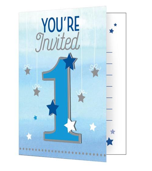 """Einladungskarten """"One Little Star - Boy"""" - 8 Stück"""