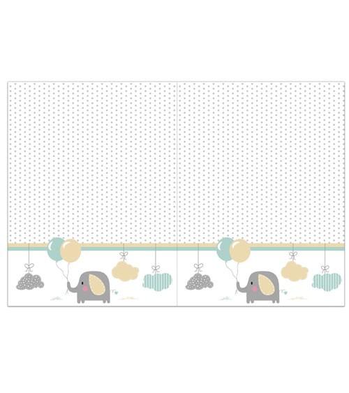 """Kunststoff-Tischdecke """"Baby Elefant"""" - 120 x 180 cm"""