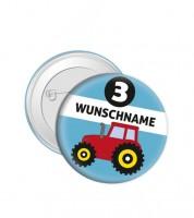 """Dein Button """"Traktor"""" - Wunschtext"""