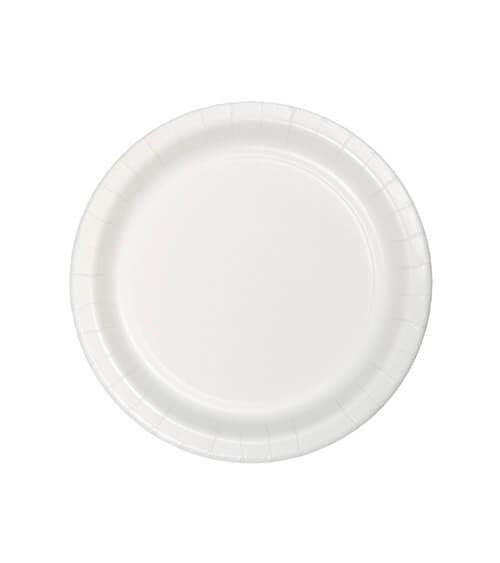 Kleine Pappteller - weiß - 24 Stück