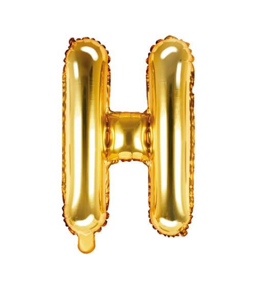 "Folienballon Buchstabe ""H"" - gold - 35 cm"