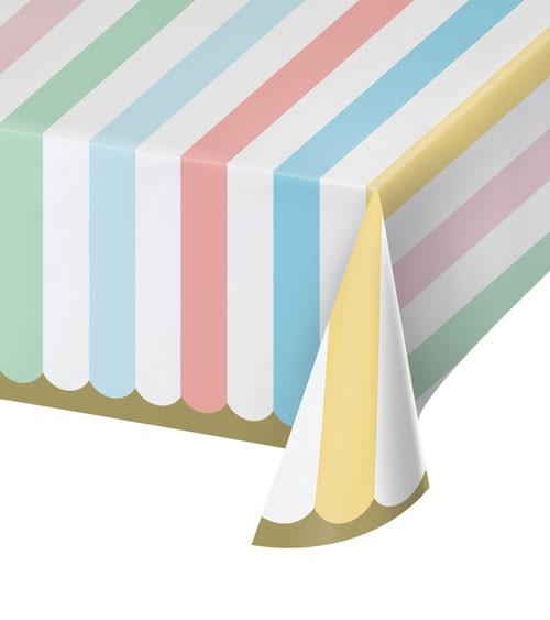 """Papier-Tischdecke """"Pastel Celebrations"""" - 137 x 259 cm"""