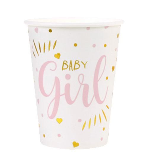 "Pappbecher ""Baby Girl"" - 10 Stück"