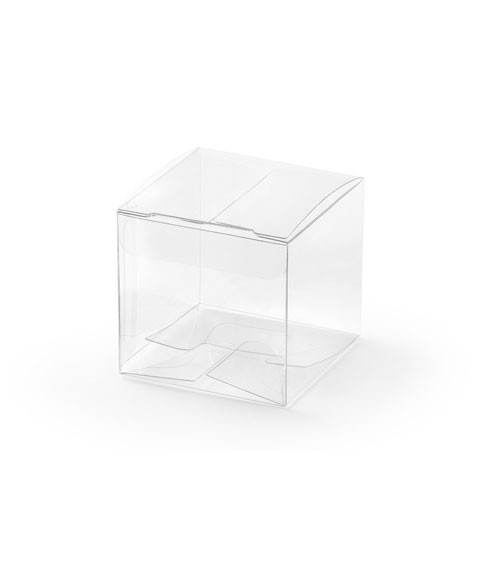 Transparente Gastgeschenk-Würfel - 5 cm - 10 Stück