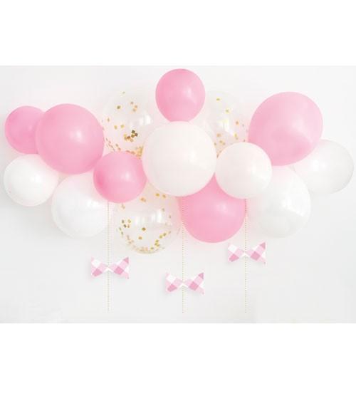 "Ballongirlande ""Vichy Karo"" - rosa - 21-teilig"