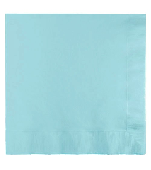 Pastellblaue Servietten - 50 Stück