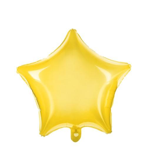Transparenter Stern-Folienballon - gelb - 48 cm