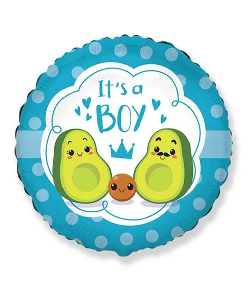 """Folienballon """"Avocado Family"""" - It's a Boy - 46 cm"""