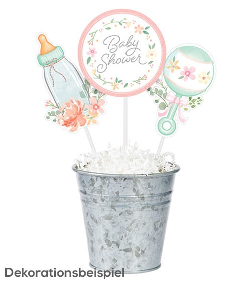 "Centerpiece-Sticks ""Floral Baby"" - 3 Stück"