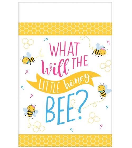 "Papiertischdecke ""What will it Bee?"" - 137 x 259 cm"