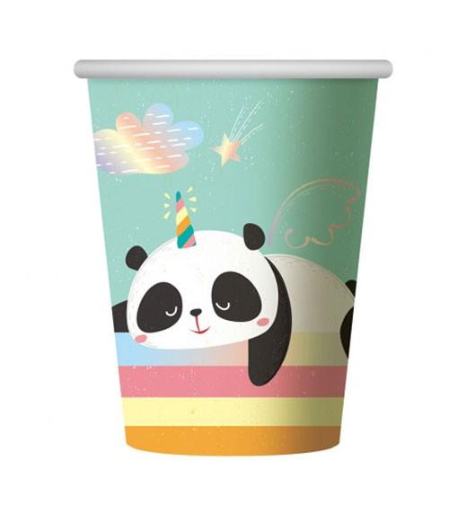 """Pappbecher """"Dreamy Panda"""" - 6 Stück"""