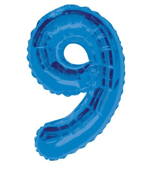 "Supershape-Folienballon ""9"" - dunkelblau"