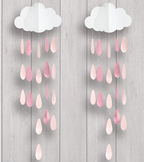"Deko-Mobile ""Wolke mit rosa Tropfen"" "" - 2 Stück"