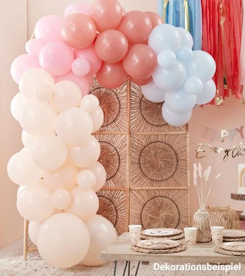 DIY Ballongirlande - pfirsich, rosa, hellblau - 75-teilig