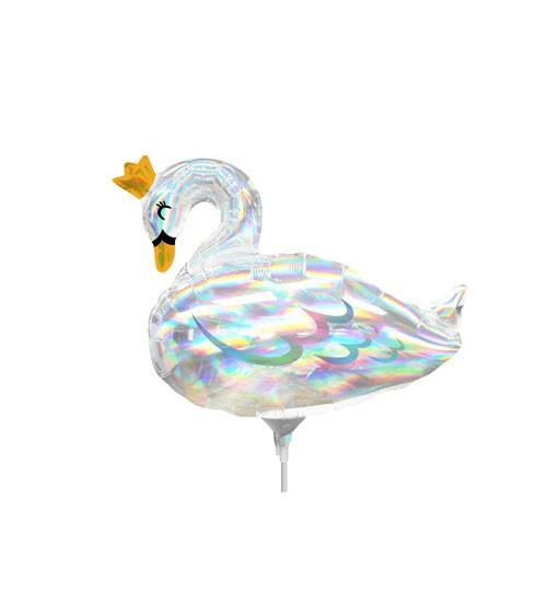 "MiniShape-Folienballon ""Schwan"" - irisierend - 31 x 35 cm"