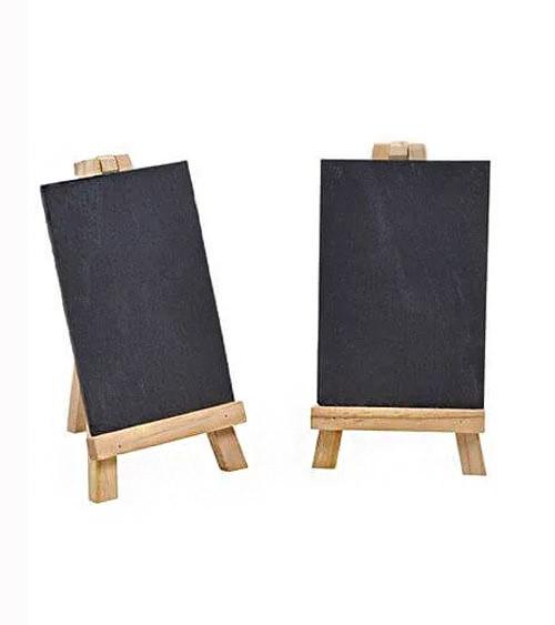 Tafel-Set aus Schiefer mit Staffelei - 11 x 19 cm - 4-teilig