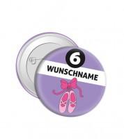 """Dein Button """"Ballerina"""" - Wunschtext"""