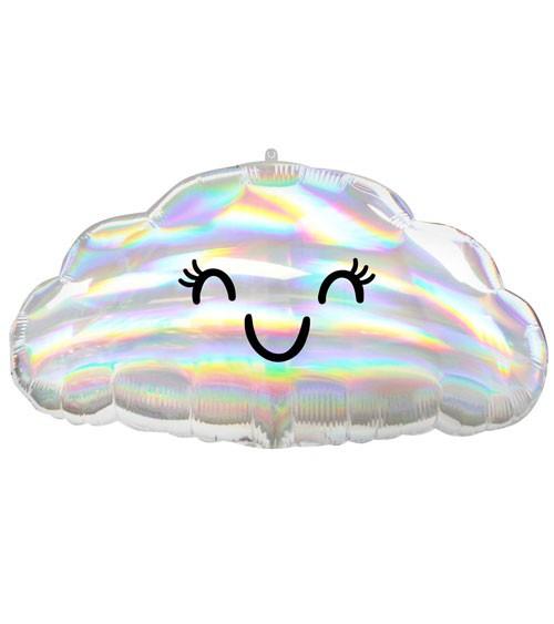 Wolken-Folienballon - irisierend - 58 x 30 cm