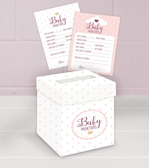 "Babyparty-Spiel ""Oh Baby"" - rosa - 21-teilig"
