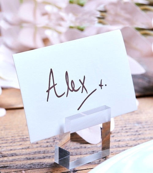Platzkartenhalter aus Acryl - transparent - 4 Stück