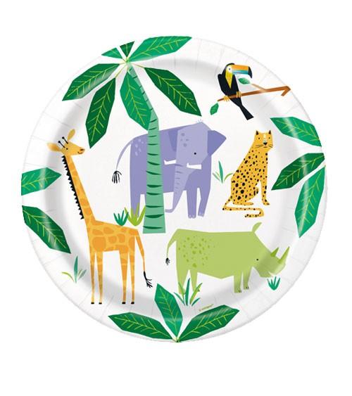 "Pappteller ""Animal Safari"" - 8 Stück"