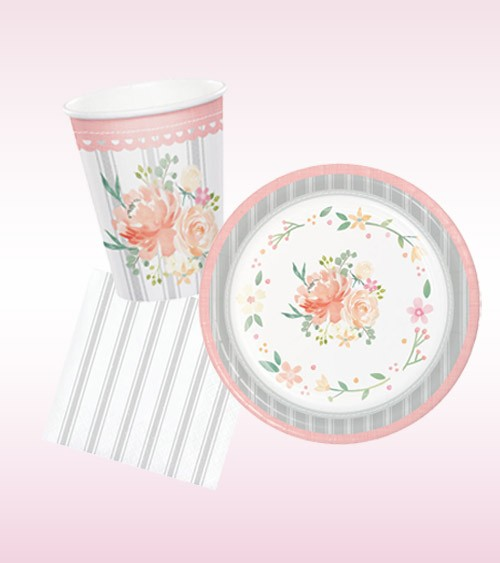 "Taufe Deko-Set ""Floral Dream"" - 32-teilig"