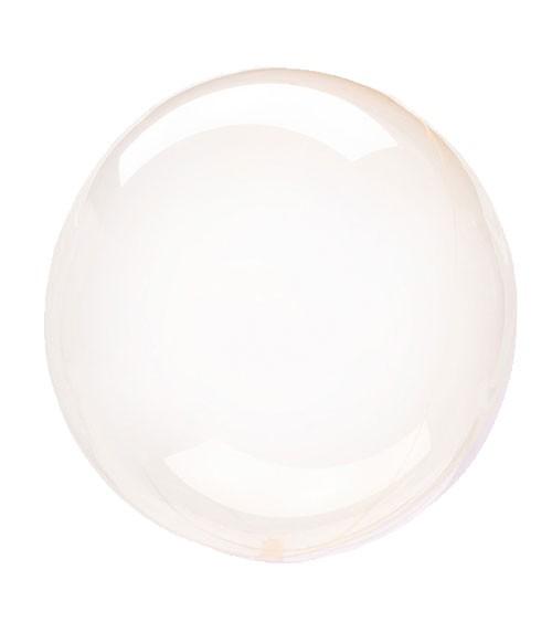"""Kugel-Folienballon """"Clearz Crystal"""" - orange - 45-56 cm"""