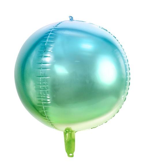 "Kugel-Folienballon ""Ombre"" - blau/grün - 35 cm"
