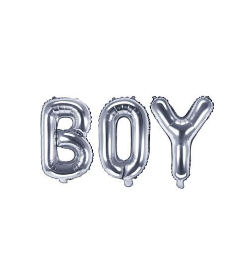 "Folienballon-Set ""BOY"" - silber - 35 cm"