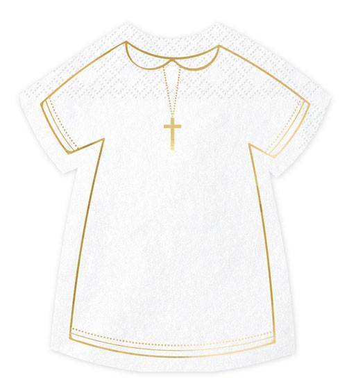 """Shape-Servietten """"Kleidchen mit Kreuz"""" - 20 Stück"""