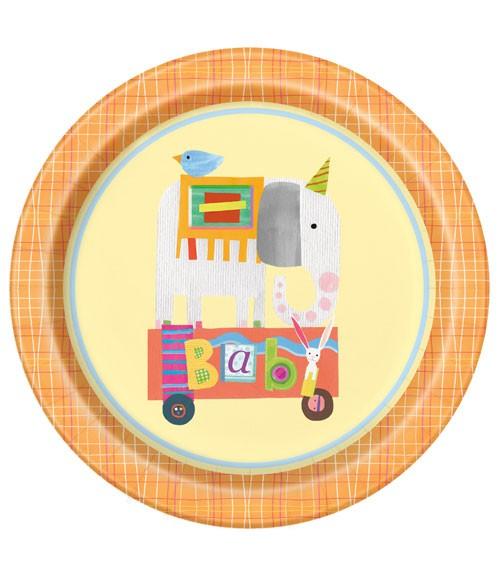 "Pappteller ""Baby Zirkus"" - 8 Stück"