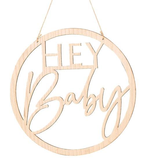 """Hängedekoration aus Holz """"Hey Baby"""" - 36 cm"""