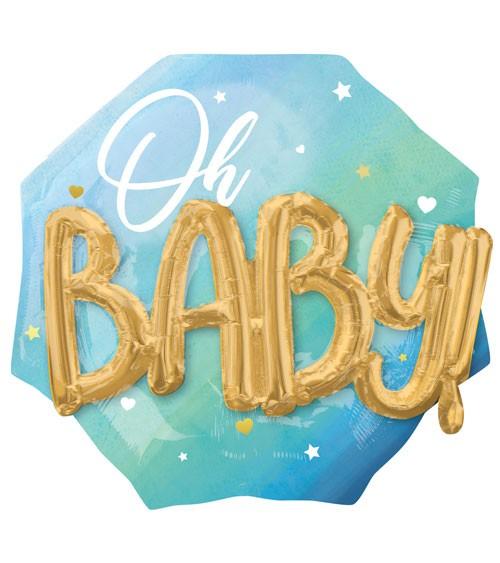 "Multi-Folienballon ""Oh Baby"" - Boy - 76 x 71 cm"
