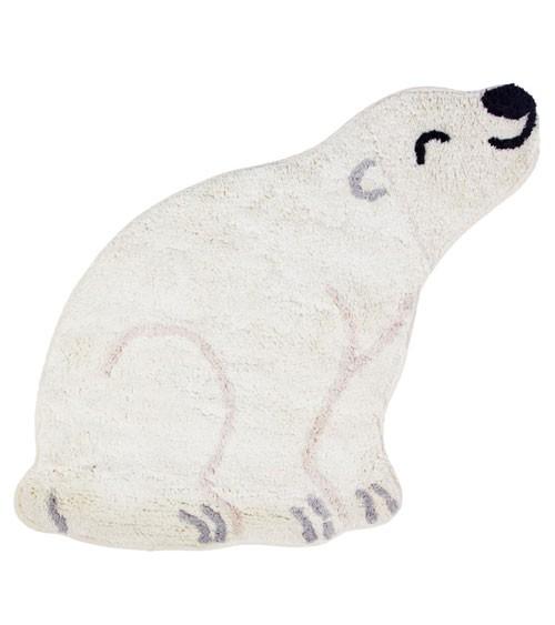 """Kleiner Teppich aus Baumwolle """"Eisbär"""" - 54 x 57 cm"""