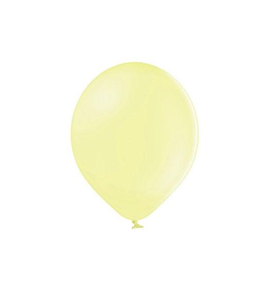 Mini-Luftballons - pastell gelb - 12 cm - 100 Stück
