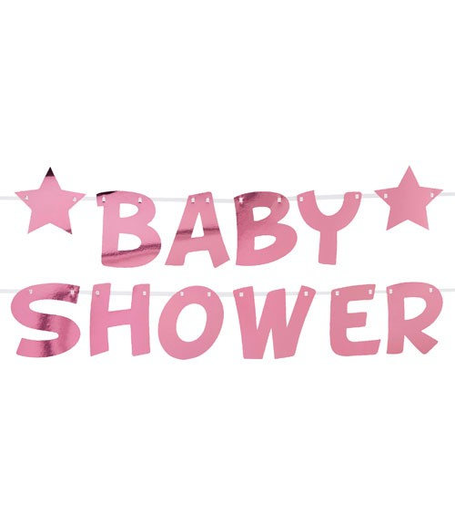 "DIY Baby Shower-Schriftzuggirlande ""Little Star Pink"" - 2,5 m"