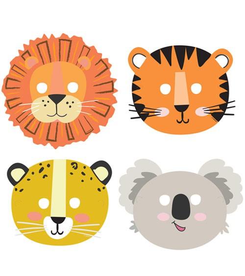 """Kinder-Partymasken """"Get Wild"""" - 8 Stück"""