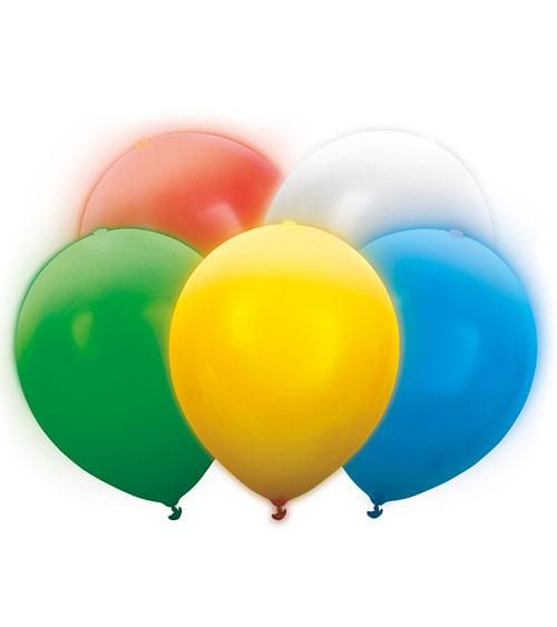 LED-Luftballons - Farbmix - 30 cm - 5 Stück