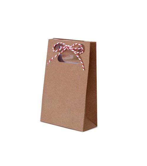 Mini-Gastgeschenktüten mit Bäckergarn - Kraftpapier - 10 Stück