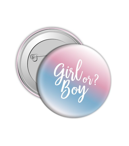 "Button ""Girl or Boy?"""