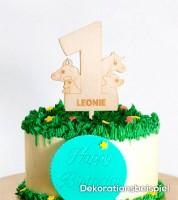"""Dein Cake-Topper """"1. Geburtstag - Bauernhof"""" aus Holz - Wunschtext"""