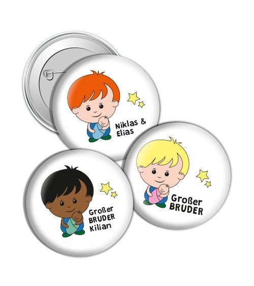 "Dein Button ""Großer Bruder"" - Wunschtext"