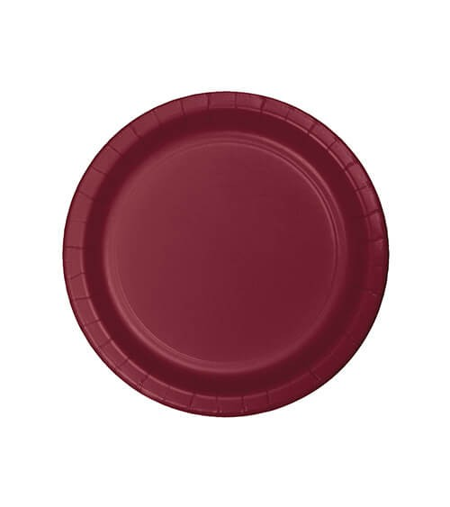 Kleine Pappteller - burgund - 24 Stück