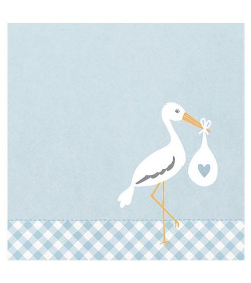 "Servietten ""Love Stork"" - blau - 20 Stück"