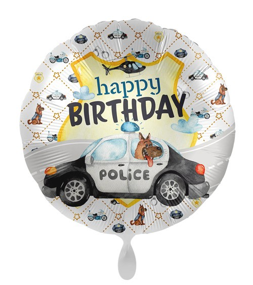"Folienballon ""Police Academy"" - Happy Birthday"