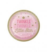 """Kleine Pappteller """"One Little Star - Girl"""" - 8 Stück"""