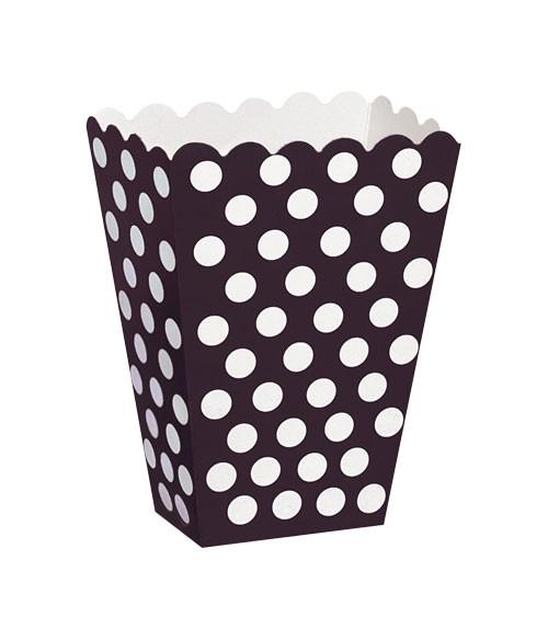 """Süßigkeitenboxen """"Big Dots"""" - schwarz - 8 Stück"""